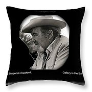 Broderick Crawford Ted Degrazias Gallery In The Sun Tucson Arizona 1969-2008 Throw Pillow
