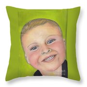 Brody's Smile Throw Pillow