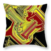 Broken 9 Throw Pillow