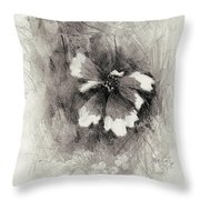 Broken Blossom Throw Pillow