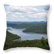 Broken Bow Lake Oklahoma Throw Pillow