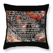 Broken Chains With Scripture Throw Pillow
