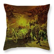 Broken Curtain At The Cricot-2 Theater Throw Pillow