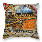Broken Down At Thrashers Throw Pillow