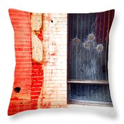 Broken Glass Like Flowers Throw Pillow