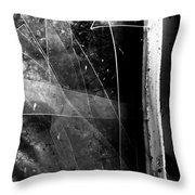 Broken Glass Window Throw Pillow