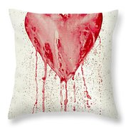 Broken Heart - Bleeding Heart Throw Pillow
