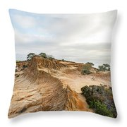 Broken Hill At Sunset Throw Pillow