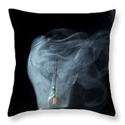 Broken Light Bulb Throw Pillow