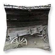 Broken Past Throw Pillow