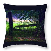 Broken Rail Throw Pillow