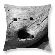 Broken Smiles Throw Pillow