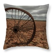 Broken Spokes Throw Pillow