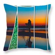 Broken Sunset Throw Pillow