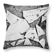 Broken Tile Throw Pillow