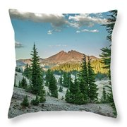 Broken Top, Oregon Throw Pillow