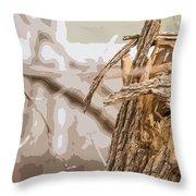 Broken Tree Base Throw Pillow