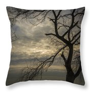 Broken Tree Throw Pillow