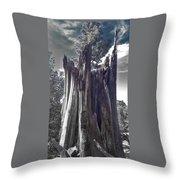 Broken Tree Throw Pillow