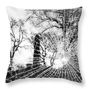 Broken Trees Throw Pillow