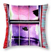 Broken Window Throw Pillow