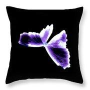 Broken Wing Lavender Butterfly Throw Pillow
