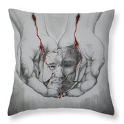 Brokenness Throw Pillow