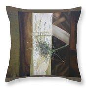Bromeliad And Bamboo Throw Pillow