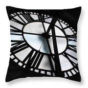 Bromo Seltzer Clock Throw Pillow