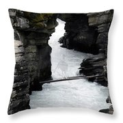 Bronc Falls Throw Pillow