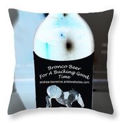 Bronco Beer Throw Pillow