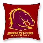 Broncos Brisbane Throw Pillow