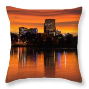 Broncos Sunrise Throw Pillow