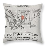 Bronx 1907 Realtor Flyer Throw Pillow