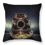 Bronze 4 Bolt Helmet Throw Pillow