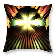 Bronze Cavern Throw Pillow