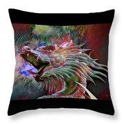 Bronze Dragon Head Throw Pillow