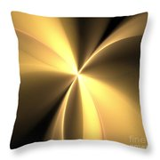 Bronze Gold Wings Throw Pillow