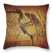 Bronze Heron Throw Pillow