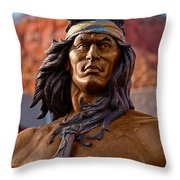 Bronze Native Throw Pillow