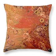Bronze Oxidation Throw Pillow