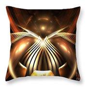 Bronze Spider Throw Pillow