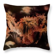 Bronze Tulip Throw Pillow by Richard Ricci