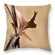 Bronzed Oak Leaf Horizontal Throw Pillow