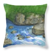 Brook And Stream  Throw Pillow