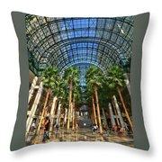 Brookfield Place Atrium - N Y C # 2 Throw Pillow