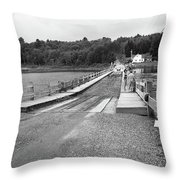 Brookfield, Vt - Floating Bridge 5 Bw Throw Pillow