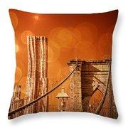 Brooklyn Bokehs Throw Pillow