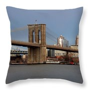 Brooklyn Bridge Throw Pillow