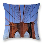Brooklyn Bridge Throw Pillow by Brooklyn Bridge